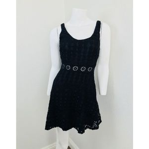 PHANUEL Small Dress Black Cotton Nylon Eyelet